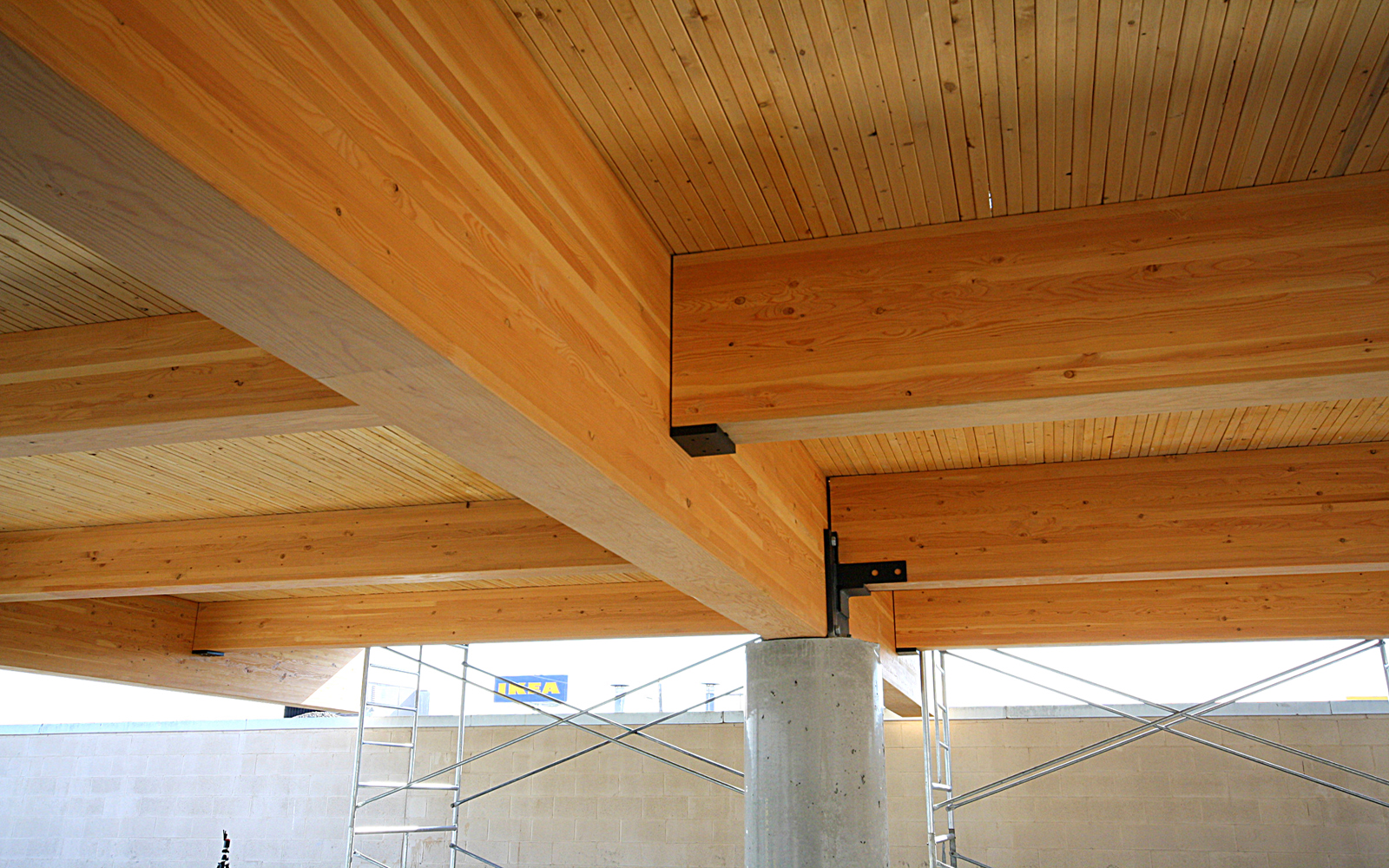 Wood Beam Construction ~ Glulam